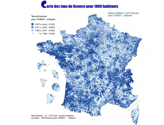 Un atlas des fédérations dessine la France sportive